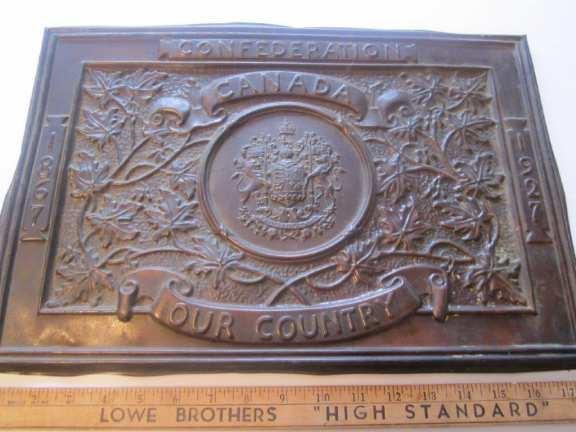Confederation Plaque 1867-1927