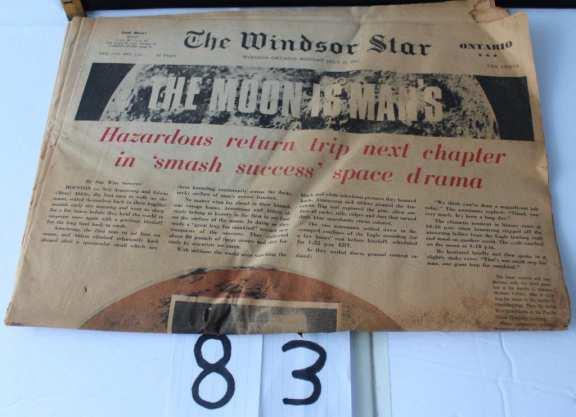 First Moon landing Newspaper