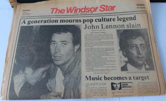 John Lennon Assassination Newspaper