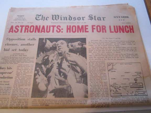 July 24 /1969 Astronauts  Home for Lunch Windsor Star