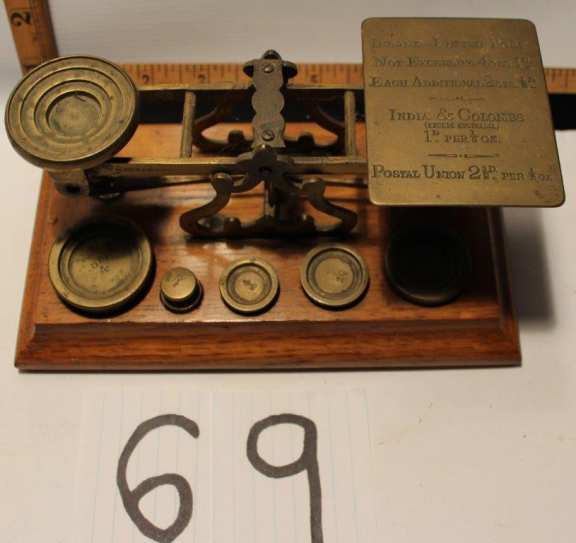 Old Postal Weigh Scale