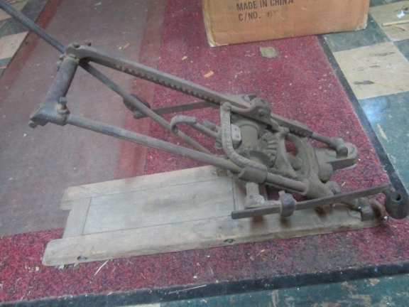 Old Primitive Tool for Drilling Wooden Beams