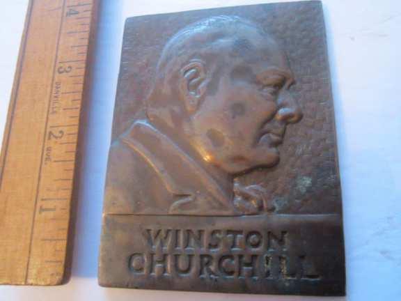 Winston Churchill Bronze plaque
