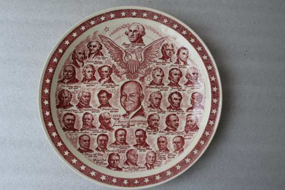 1953 President's wall plate
