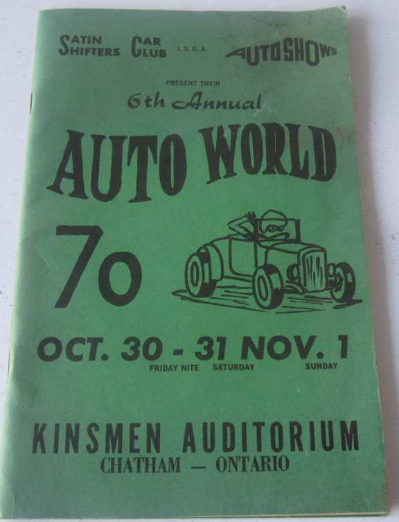 Auto show program booklet