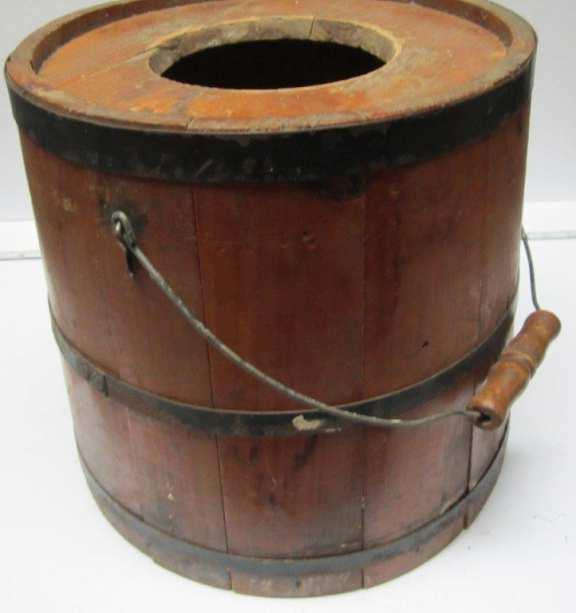 Bottom barrel from butter churn