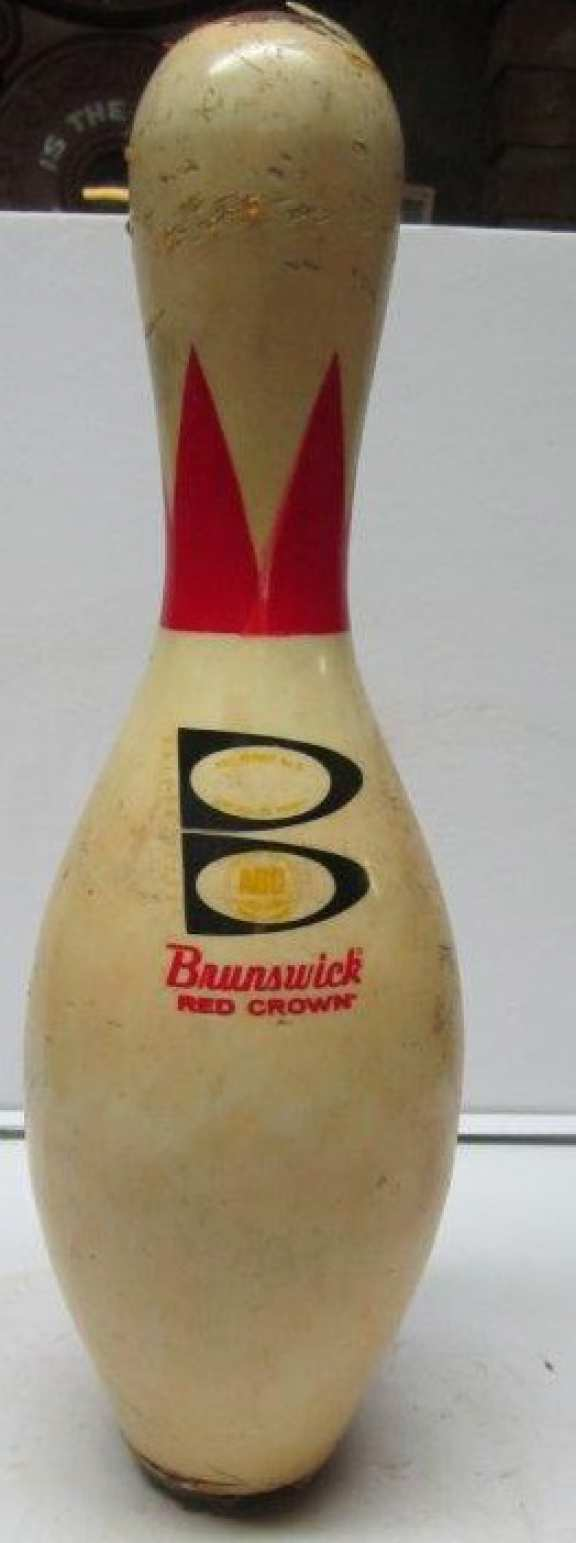 Brunswick Red Crown bowling pin