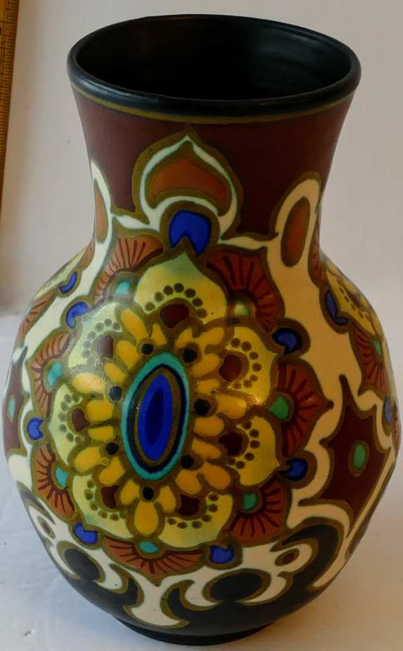 Gouda Plazuid Holland Antique Ceramic Vase