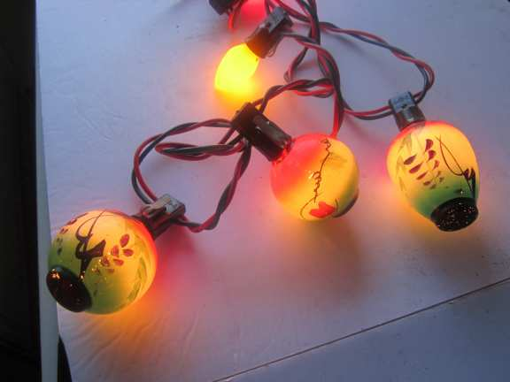 Hand painted Christmas bulbs