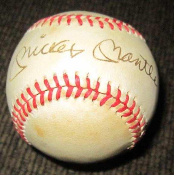 Mickey Mantle original autographed baseball