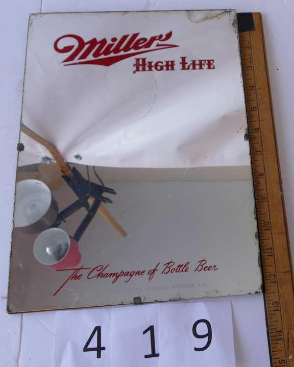 Miller High Life Advertising Mirror
