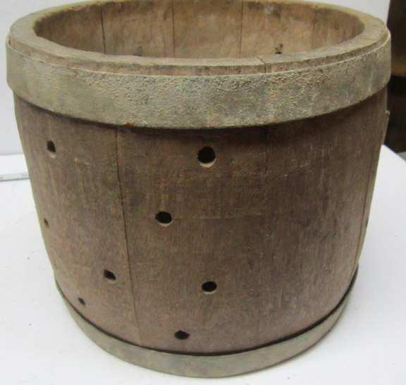 Old wood barrel