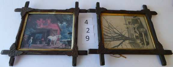 Ornate Wooden Matching Picture Frames (2)