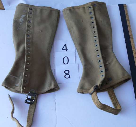 Pair of Military Spats - possibly USA