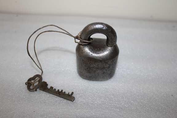 Rare Antique Padlock with Key