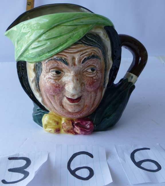 Royal Doulton Sairey Gamp Character Toby Mug
