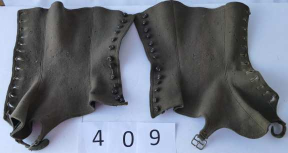Small Pair of Felt Button Down Spats