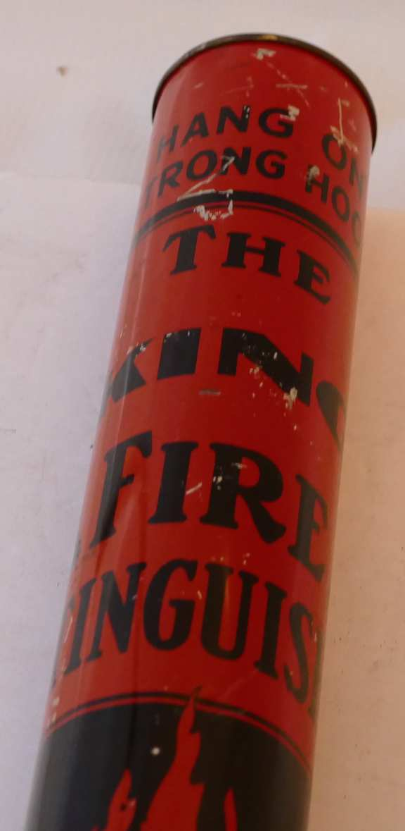 """""""The King"""" Antique Powder Fire Extinguisher"""