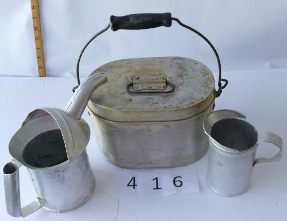 Three Metal Containers