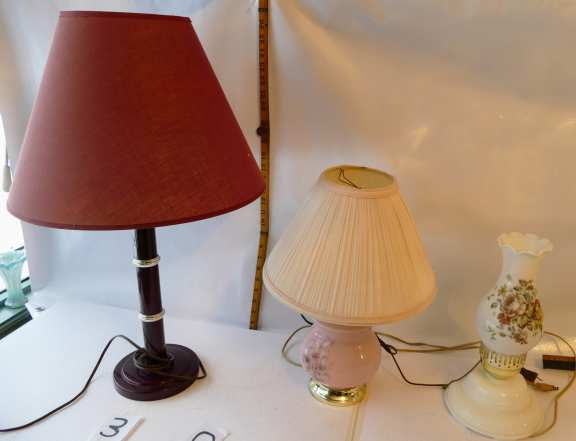 Three Newer Table Lamps