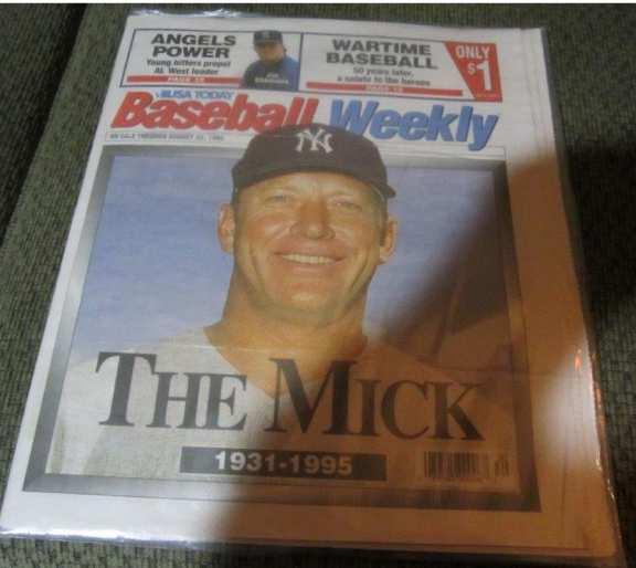 USA Today Baseball Weekly The Mick, 1931-1995.