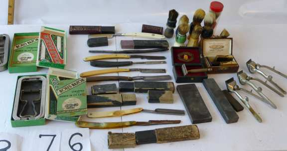 Various Shaving Paraphernalia