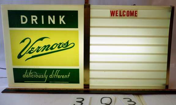 Vernors Advertising Sign