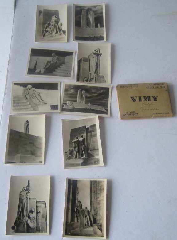 Vimy Ridge souvenir photos