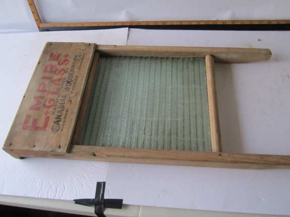 Wash board with advertising