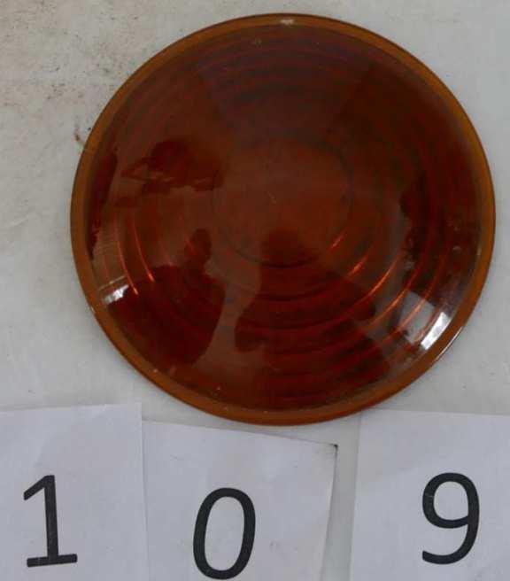 Amber Lantern Glass