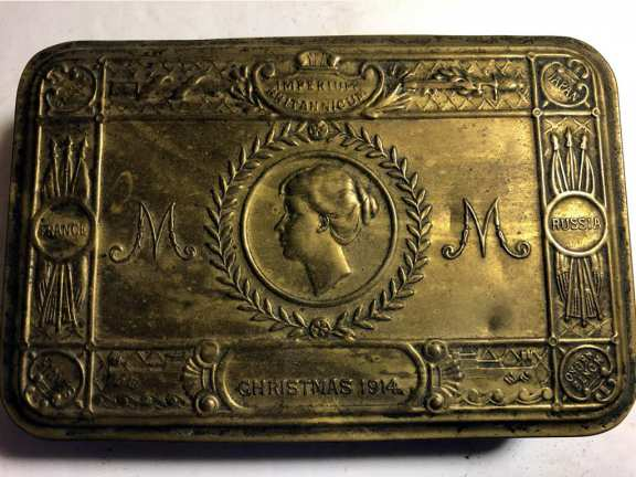 Brass Christmas Box 1914