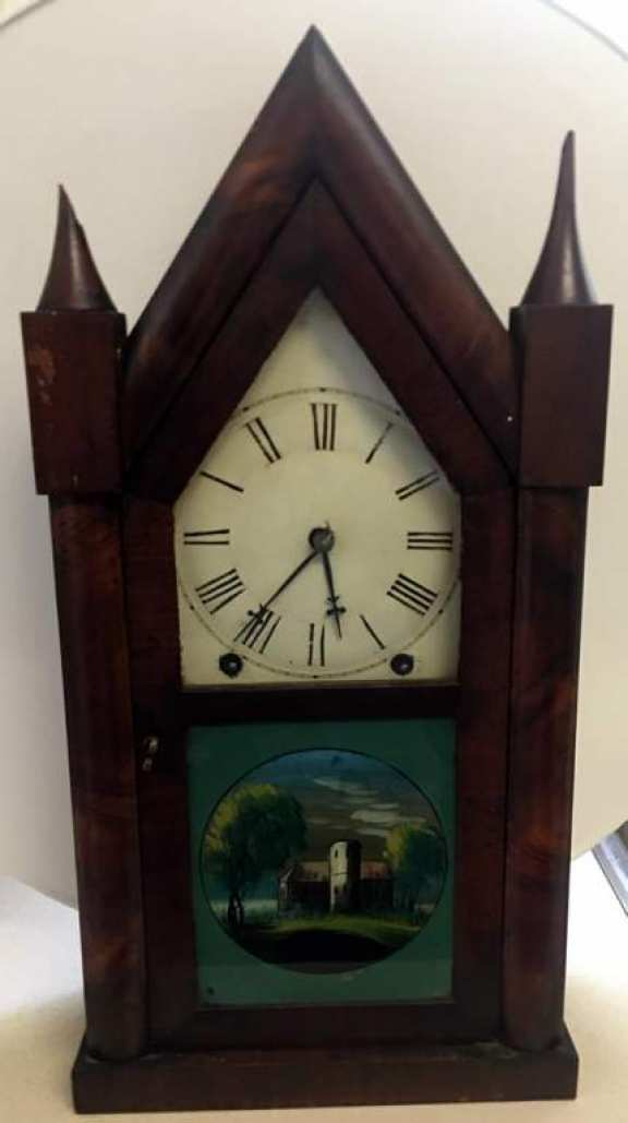 C 1855 Henry Sperry Steeple Clock