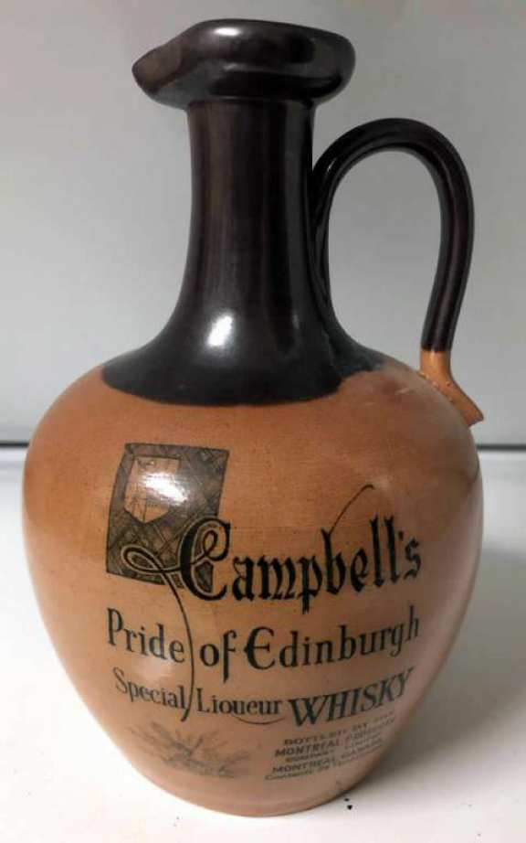 Campbell's of Edinburgh Whiskey Bottle