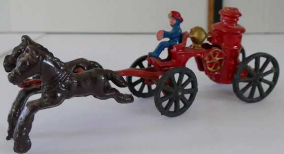 Cast Iron Fire Engine with Horses