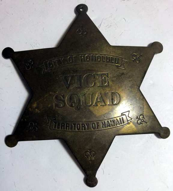 City Of Honolulu Vice Squad Badge