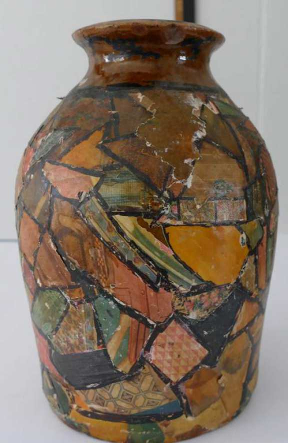 Decoupage Vase (Folk Art)