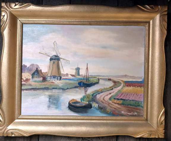 Dutch Scene Oil Painting By Rosemary Smyth