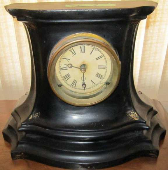 Early cast iron clock