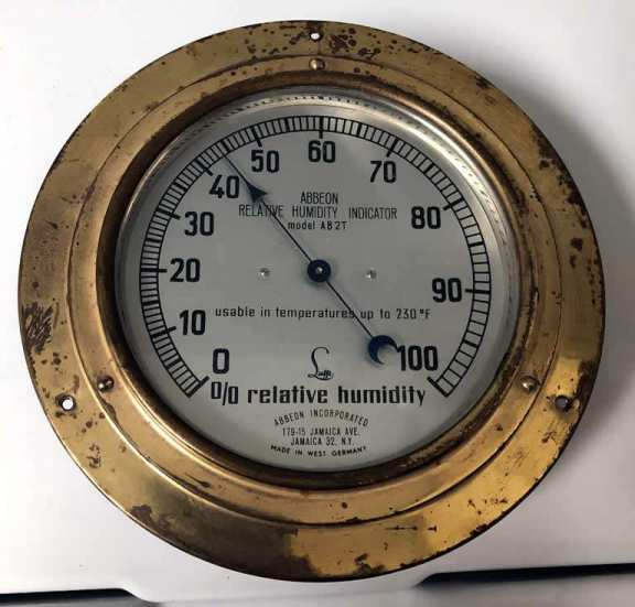 Hygrometer Made By Abbeon Of N.Y.