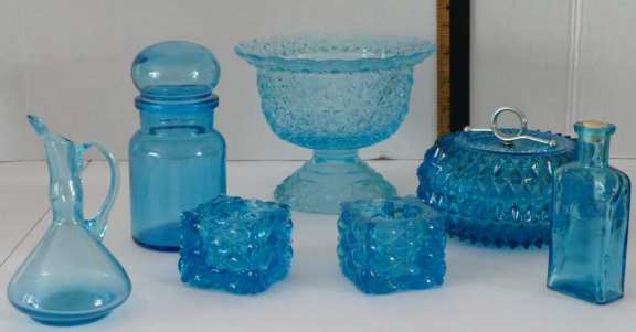 Lot of Aquamarine Glass