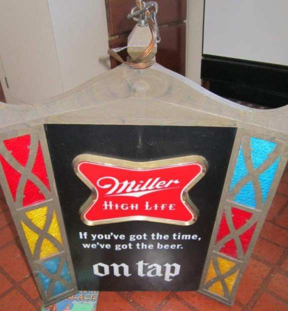 Miller High Life illuminated clock