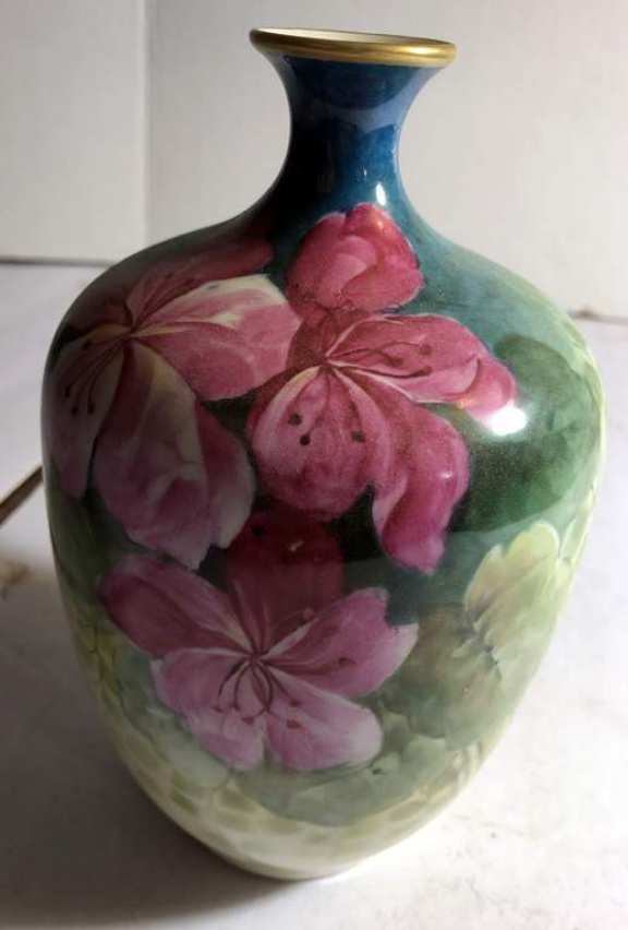 Nice Old French Hand Painted Vase