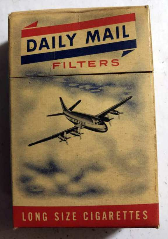"Old ""Daily Mail Filters "" cigarette package"