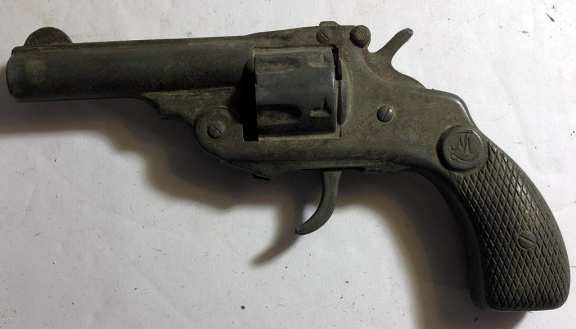 Old White Metal Gun
