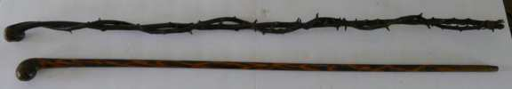 Pair of Shillelagh Canes - Blackthorn Walking Stick