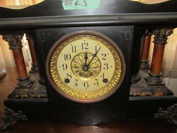 Seth Thomas Greek temple clock
