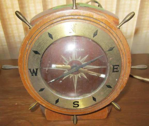 Ship-style electric clock