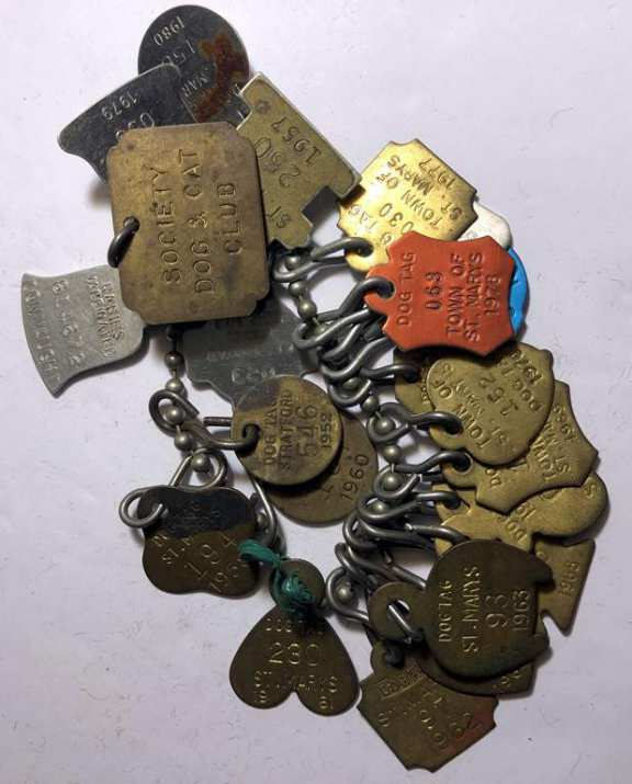 Town Of St. Marys Dog Tags From 1952-1970