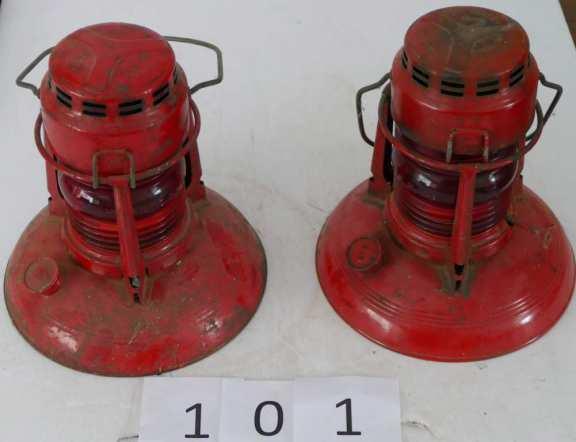 Two Dietz Traffic Guard Lanterns