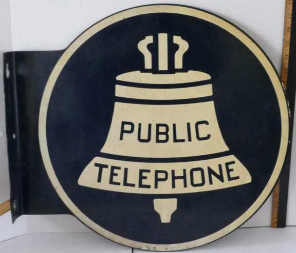 Two Sided Public Telephone Sign